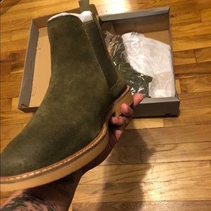 Olive chelsea boots by Kenneth Cole (Never Worn)